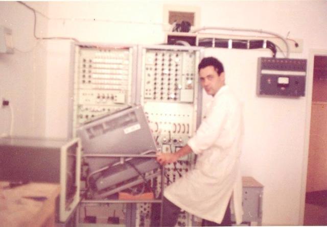 1965 The Control room at Eureka Hertzliah